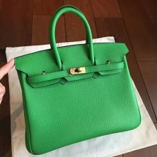 Hermes Bamboo Clemence Birkin 25cm Handmade Bag