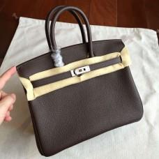 Hermes Cafe Clemence Birkin 25cm Handmade Bag