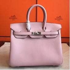 Hermes Rose Dragee Swift Birkin 25cm Handmade Bag