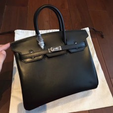 Hermes Black Box Birkin 25cm Handmade Bag
