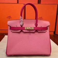 Hermes Pink Espom Horseshoe Brikin 30cm Handmade Bag