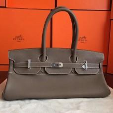 Hermes Grey JPG Shoulder Birkin 42cm Bag
