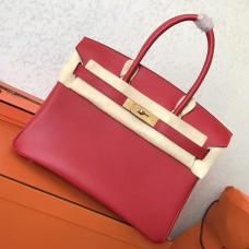 Hermes Red Swift Birkin 30cm Handmade Bag