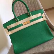 Hermes Bamboo Clemence Birkin 35cm Handmade Bag