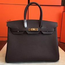 Hermes Cafe Clemence Birkin 35cm Handmade Bag