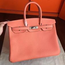 Hermes Crevette Clemence Birkin 35cm Handmade Bag
