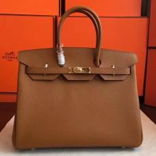 Hermes Brown Epsom Birkin 35cm Handmade Bag