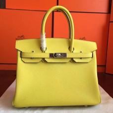 Hermes Jaune Epsom Birkin 35cm Handmade Bag