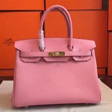 Hermes Pink Epsom Birkin 35cm Handmade Bag