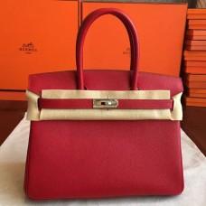 Hermes Red Epsom Birkin 35cm Handmade Bag