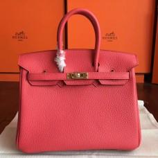 Hermes Bougainvillier Clemence Birkin 25cm Handmade Bag