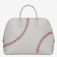 Hermes Bolide 1923 Gris Perle 45 Baseball Bag