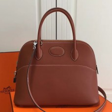 Hermes Bolide 31cm Bag In Brown Swift Leather