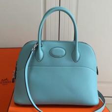 Hermes Bolide 31cm Bag In Celeste Swift Leather