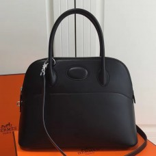 Hermes Bolide 31cm Bag In Black Swift Leather