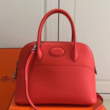 Hermes Bolide 31cm Bag In Red Swift Leather
