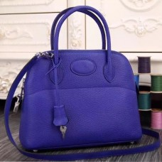 Hermes Bolide Tote Bag In Electric Blue Leather
