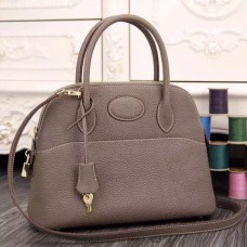 Hermes Bolide Tote Bag In Etain Leather