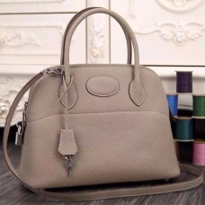 Hermes Bolide Tote Bag In Grey Leather