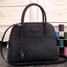 Hermes Bolide Tote Bag In Black Leather