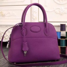 Hermes Bolide Tote Bag In Purple Leather