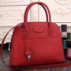 Hermes Bolide Tote Bag In Red Leather