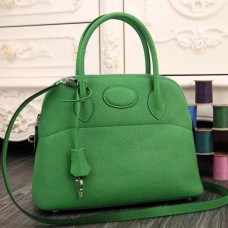 Hermes Bolide Tote Bag In Vert Leather