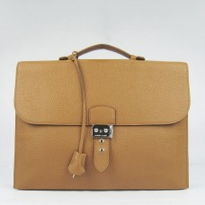 Hermes Brown Sac A Depeches 38cm Briefcase Bag