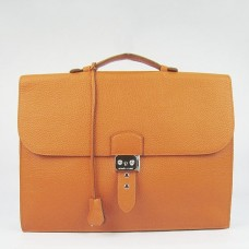 Hermes Orange Sac A Depeches 38cm Briefcase Bag