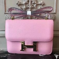 Hermes Pink Constance MM 24cm Epsom Leather Bag