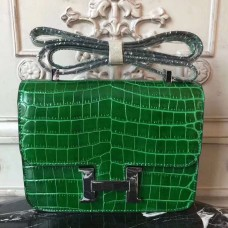 Hermes Bamboo Constance MM 24cm Crocodile Bag