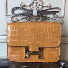 Hermes Camarel Constance MM 24cm Crocodile Bag