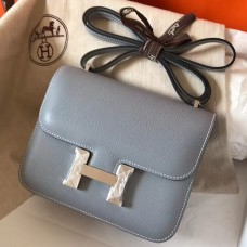 Hermes Mini Constance 18cm Epsom Blue Lin Bag