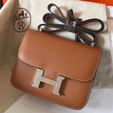 Hermes Mini Constance 18cm Gold Epsom Bag