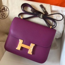 Hermes Mini Constance 18cm Cyclamen Epsom Bag