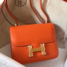 Hermes Mini Constance 18cm Orange Epsom Bag