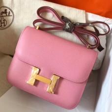 Hermes Mini Constance 18cm Pink Epsom Bag