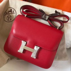 Hermes Mini Constance 18cm Red Epsom Bag