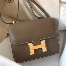 Hermes Mini Constance 18cm Taupe Epsom Bag