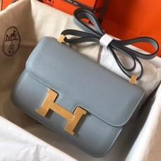 Hermes Epsom Constance 24cm Blue Lin Handmade Bag
