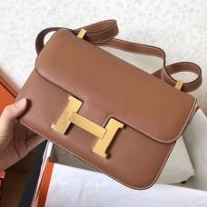 Hermes Epsom Constance 24cm Brown Handmade Bag