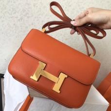 Hermes Epsom Constance 24cm Orange Handmade Bag