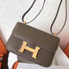 Hermes Epsom Constance 24cm Taupe Handmade Bag