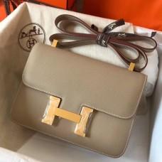 Hermes Epsom Constance 24cm Tourterelle Handmade Bag