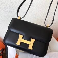 Hermes Swift Constance 24cm Black Handmade Bag