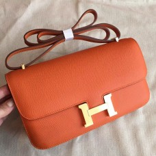 Hermes Orange Epsom Constance Elan 25cm Bag