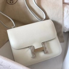 Hermes Mini Constance 18cm White Epsom Bag