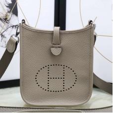 Hermes Grey Evelyne II TPM Messenger Bag