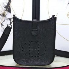 Hermes Black Evelyne II TPM Messenger Bag