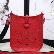 Hermes Red Evelyne II TPM Messenger Bag